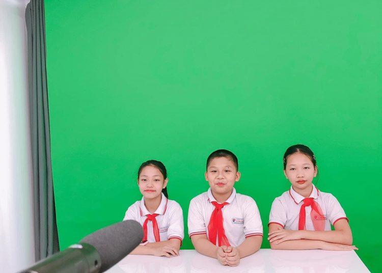 Quay video dự thi quốc tế trường Tiểu học Lê Hồng Phong Hải Phòng