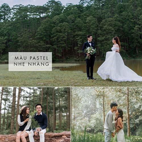 Màu ảnh cưới đẹp các cặp đôi nên tham khảo