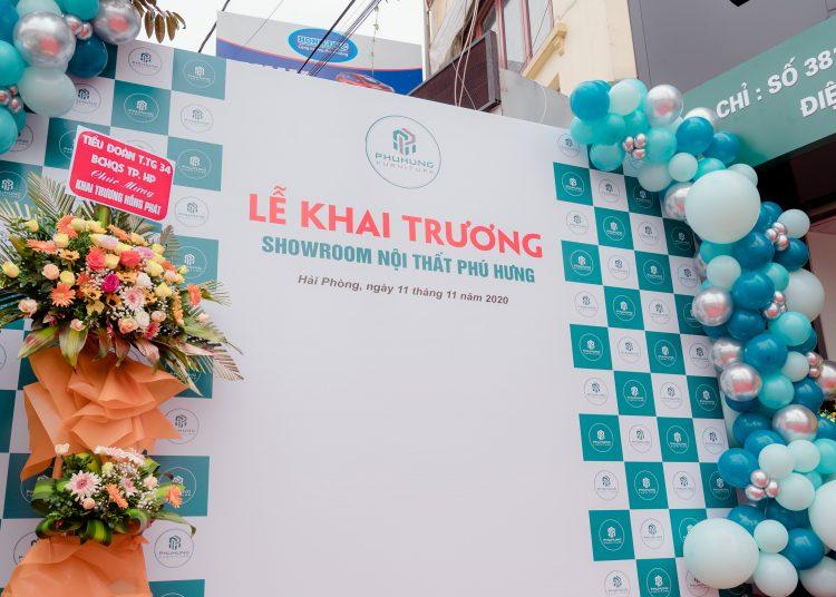 Quay video TVC lễ khai trương showroom nội thất Phú Hưng tại Hải Phòng